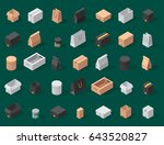 different box vector isometric... | Shutterstock .eps vector #643520827