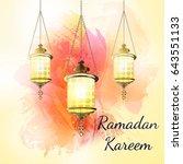ramadan kareem lantern on a...   Shutterstock .eps vector #643551133