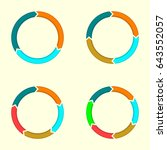 circular arrows set.... | Shutterstock . vector #643552057