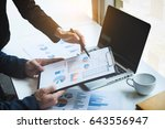 young businessteam working with ... | Shutterstock . vector #643556947