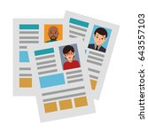 curriculum vitae isolated icon | Shutterstock .eps vector #643557103