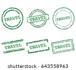 travel stamps | Shutterstock .eps vector #643558963
