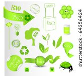 new bio green concept set | Shutterstock . vector #64356424