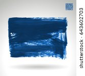 brush stroke and texture.... | Shutterstock .eps vector #643602703