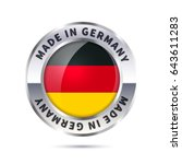 glossy metal badge icon  made... | Shutterstock .eps vector #643611283