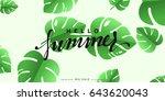 hello summer banner tropical... | Shutterstock .eps vector #643620043