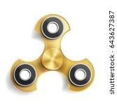 hand spinner toy. fidget toy...   Shutterstock .eps vector #643627387