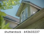 2 dormers with a permanent...   Shutterstock . vector #643633237