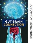 gut brain connection or gut... | Shutterstock . vector #643664677
