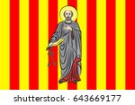 flag of prades is a commune and ... | Shutterstock .eps vector #643669177