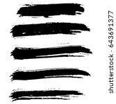 ink vector brush strokes set.... | Shutterstock .eps vector #643691377