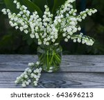 a bouquet of lilies of the... | Shutterstock . vector #643696213