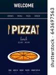 pizza web site with menu line ...