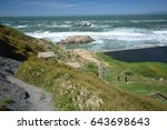 impressions from the lands end...   Shutterstock . vector #643698643