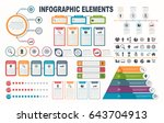 infographic elements  diagram ... | Shutterstock .eps vector #643704913