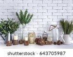 plant pot  branch  flowers