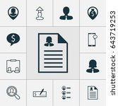 management icons set.... | Shutterstock .eps vector #643719253