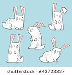 a set of cute white hand drawn... | Shutterstock .eps vector #643723327