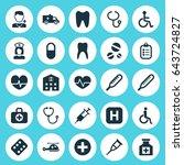antibiotic icons set.... | Shutterstock .eps vector #643724827