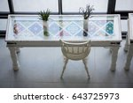 very bright lounge corner of a...   Shutterstock . vector #643725973