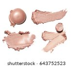 collection of beige smear... | Shutterstock . vector #643752523