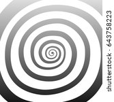 vector spiral  background.... | Shutterstock .eps vector #643758223