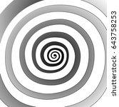 vector spiral  background.... | Shutterstock .eps vector #643758253