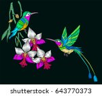 embroidery with couple of... | Shutterstock .eps vector #643770373