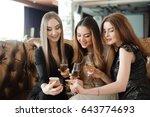 beautiful hot girls having... | Shutterstock . vector #643774693