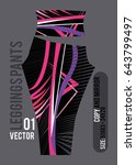 leggings pants fashion vector... | Shutterstock .eps vector #643799497