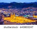 cusco  peru   plaza de armas... | Shutterstock . vector #643803247