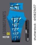leggings pants fashion vector... | Shutterstock .eps vector #643825657