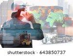 success businessman or  manager ... | Shutterstock . vector #643850737