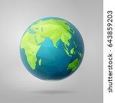 polygonal planet earth  eastern ...   Shutterstock .eps vector #643859203