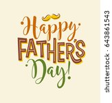 happy father's day. typography... | Shutterstock .eps vector #643861543