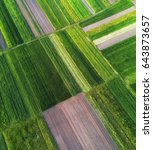 view on the field from air....   Shutterstock . vector #643873657
