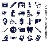medical icons set. set of 25... | Shutterstock .eps vector #643885177