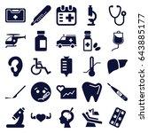 medical icons set. set of 25... | Shutterstock .eps vector #643885177