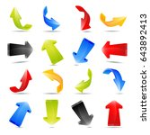 illustration of colorful arrows ... | Shutterstock . vector #643892413