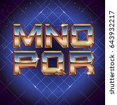 80s retro futuristic font from...   Shutterstock .eps vector #643932217