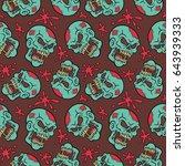 vector illustration seamless... | Shutterstock .eps vector #643939333