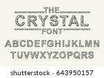 crystal texture font. vector... | Shutterstock .eps vector #643950157