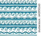 vector greek wave and meander... | Shutterstock .eps vector #643950163