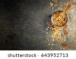 granola. healthy eating concept.... | Shutterstock . vector #643952713