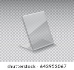 blank acrylic table card holder ... | Shutterstock .eps vector #643953067