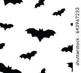seamless texture pattern bat ... | Shutterstock .eps vector #643967233