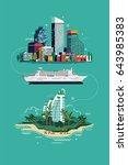 cool vector flat design concept ... | Shutterstock .eps vector #643985383