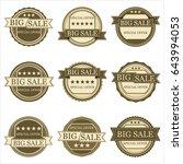 set of vintage stickers sale... | Shutterstock .eps vector #643994053