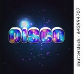 vibrant futuristic 80s styled... | Shutterstock .eps vector #643994707