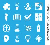 solution icons set. set of 16... | Shutterstock .eps vector #644005603